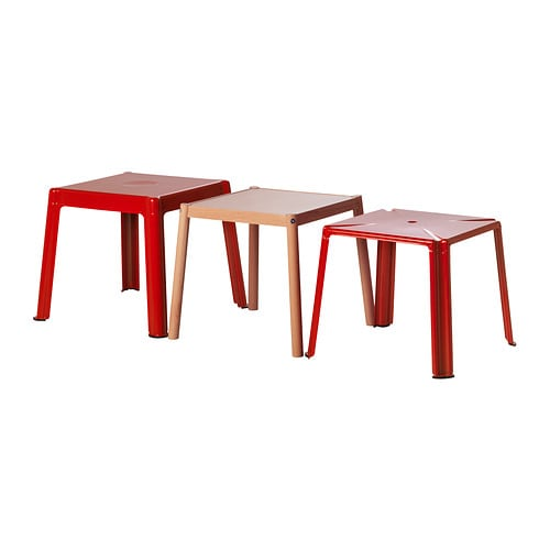 IKEA PS 2012 Nest of tables, set of 3 IKEA One table can become three; keep them stacked or use them individually when you need extra tables.