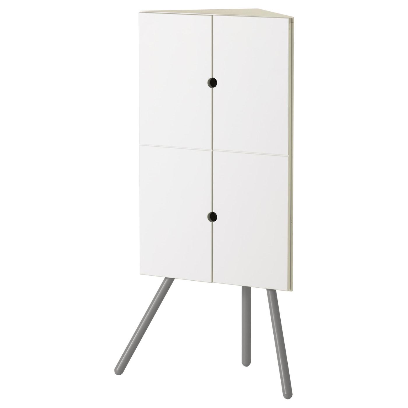 Ikea ps 2014 corner cabinet white grey 52x110 cm ikea - Meuble de rangement wc ikea ...