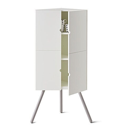 Ikea ps 2014 corner cabinet white grey 52x110 cm ikea for Mobili angolari ikea