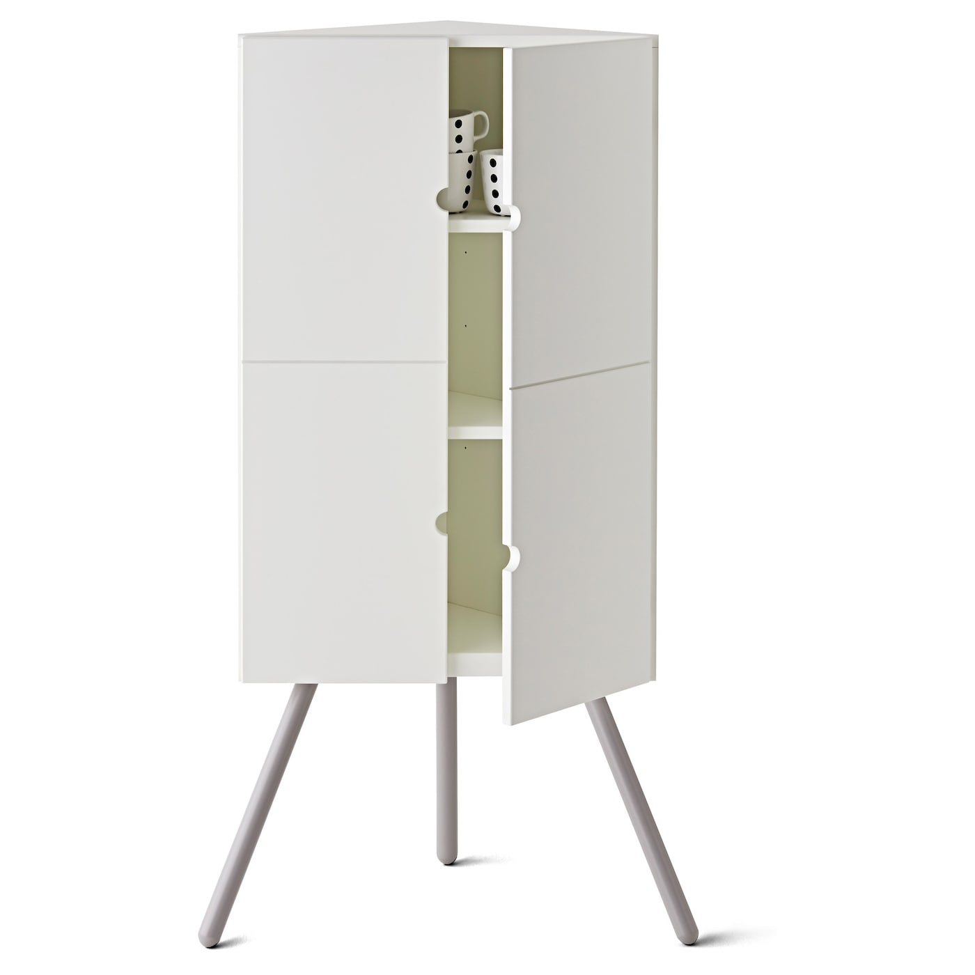 IKEA PS 2014 Corner cabinet White grey 52×110 cm  IKEA