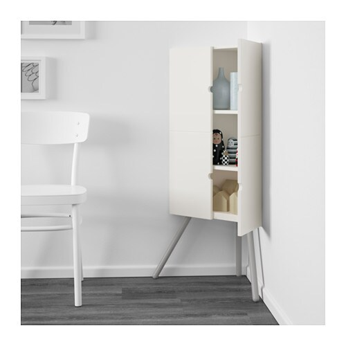 Ikea ps 2014 corner cabinet white grey 52x110 cm ikea for Meuble country corner