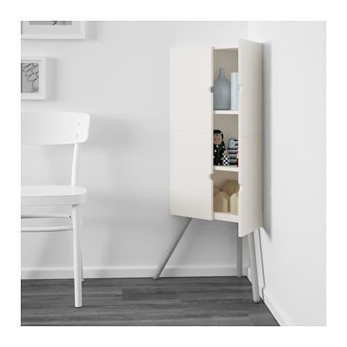 Ikea ps 2014 corner cabinet white grey 52x110 cm ikea for Meuble country corner