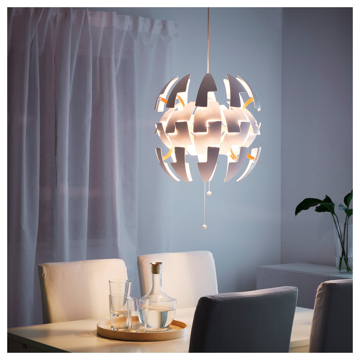 ikea ps 2014 pendant lamp white/orange - ikea