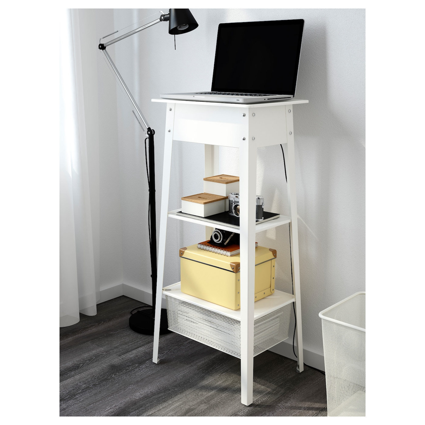 Ikea ps 2014 standing laptop station white ikea for Mobile porta pc ikea