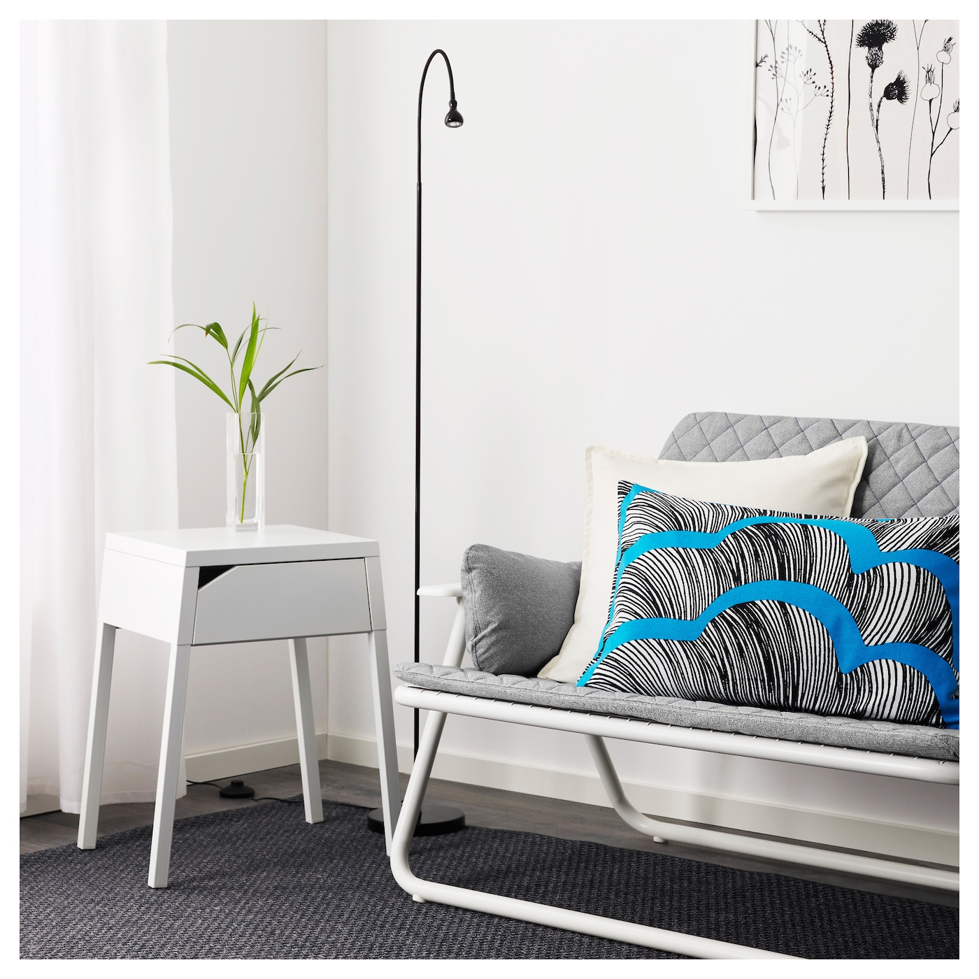 IKEA IKEA PS 2017 2-seat sofa Easy to fold up and set aside when you need to free up space.