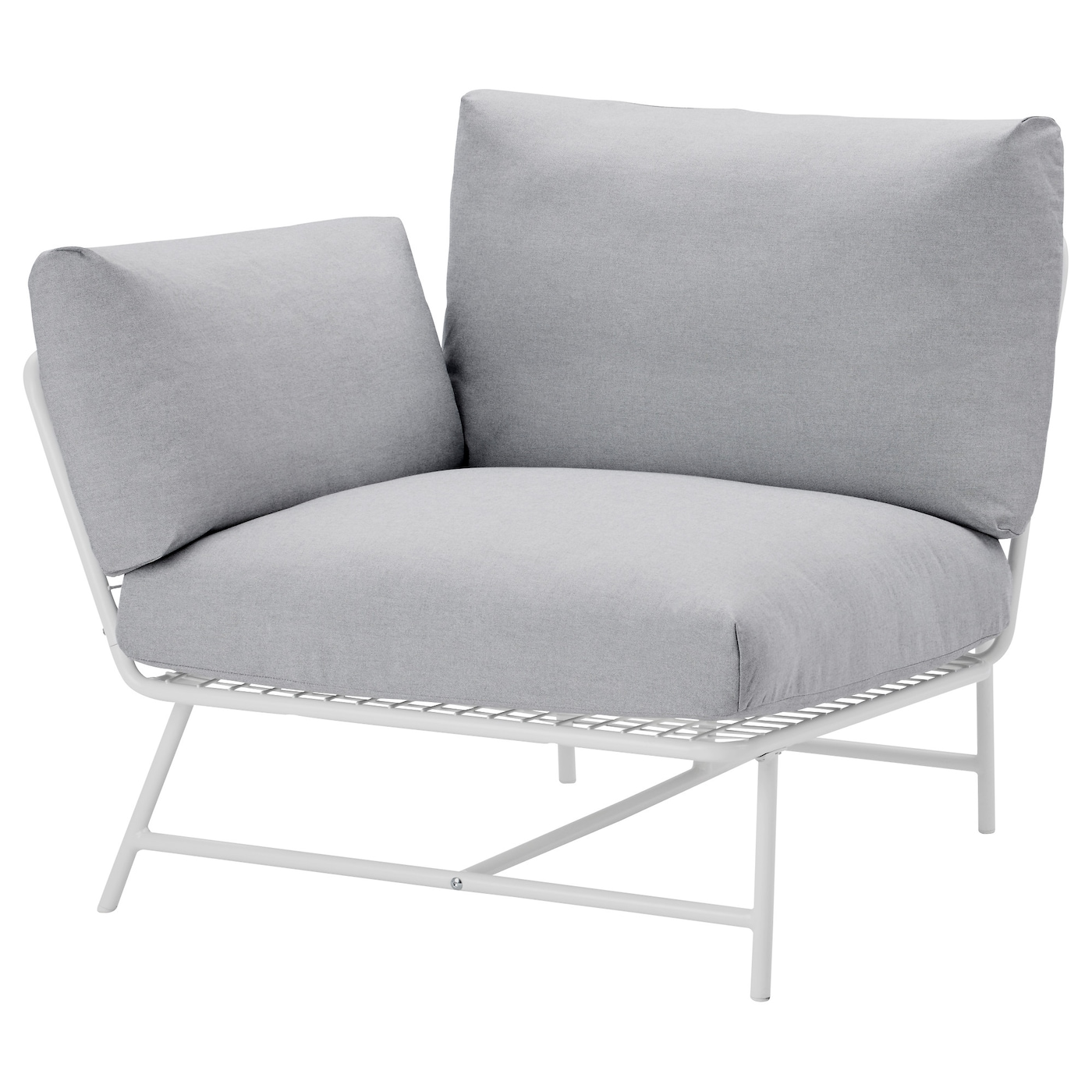 ikea ps 2017 corner easy chair with cushions white grey ikea. Black Bedroom Furniture Sets. Home Design Ideas
