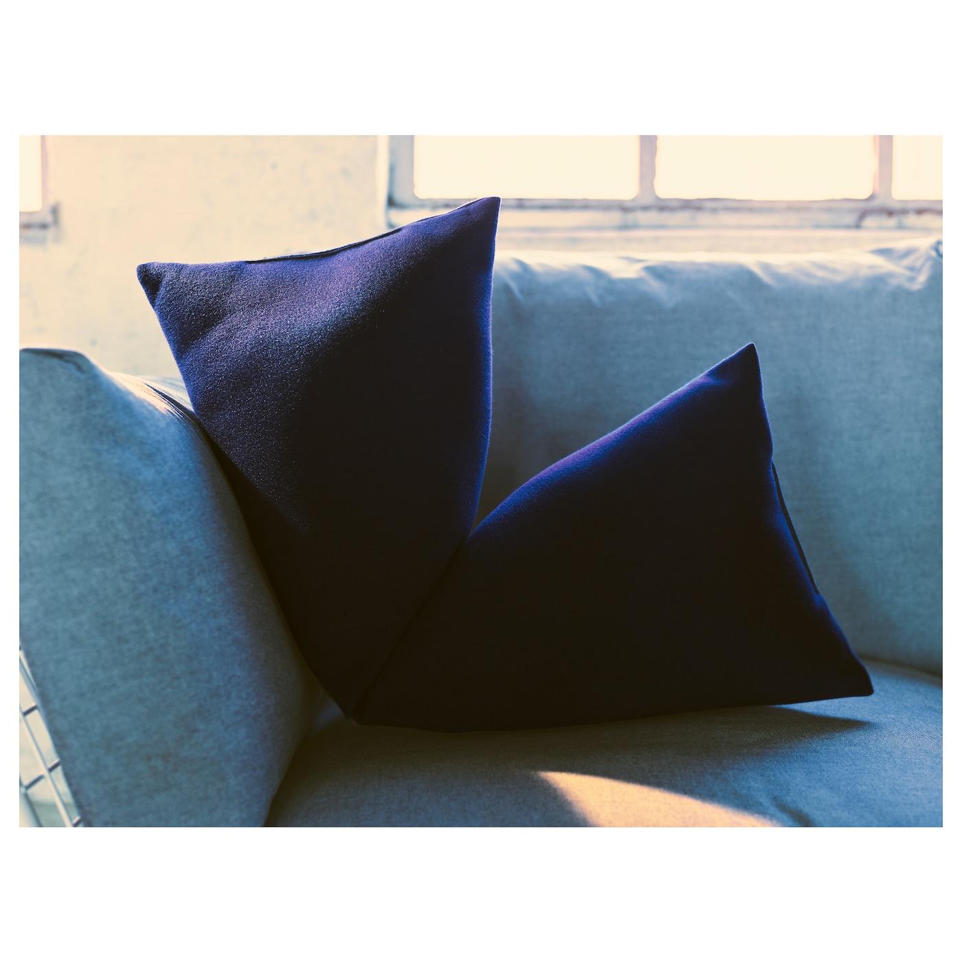 ikea ps 2017 cushion dark blue 80x30 cm ikea. Black Bedroom Furniture Sets. Home Design Ideas
