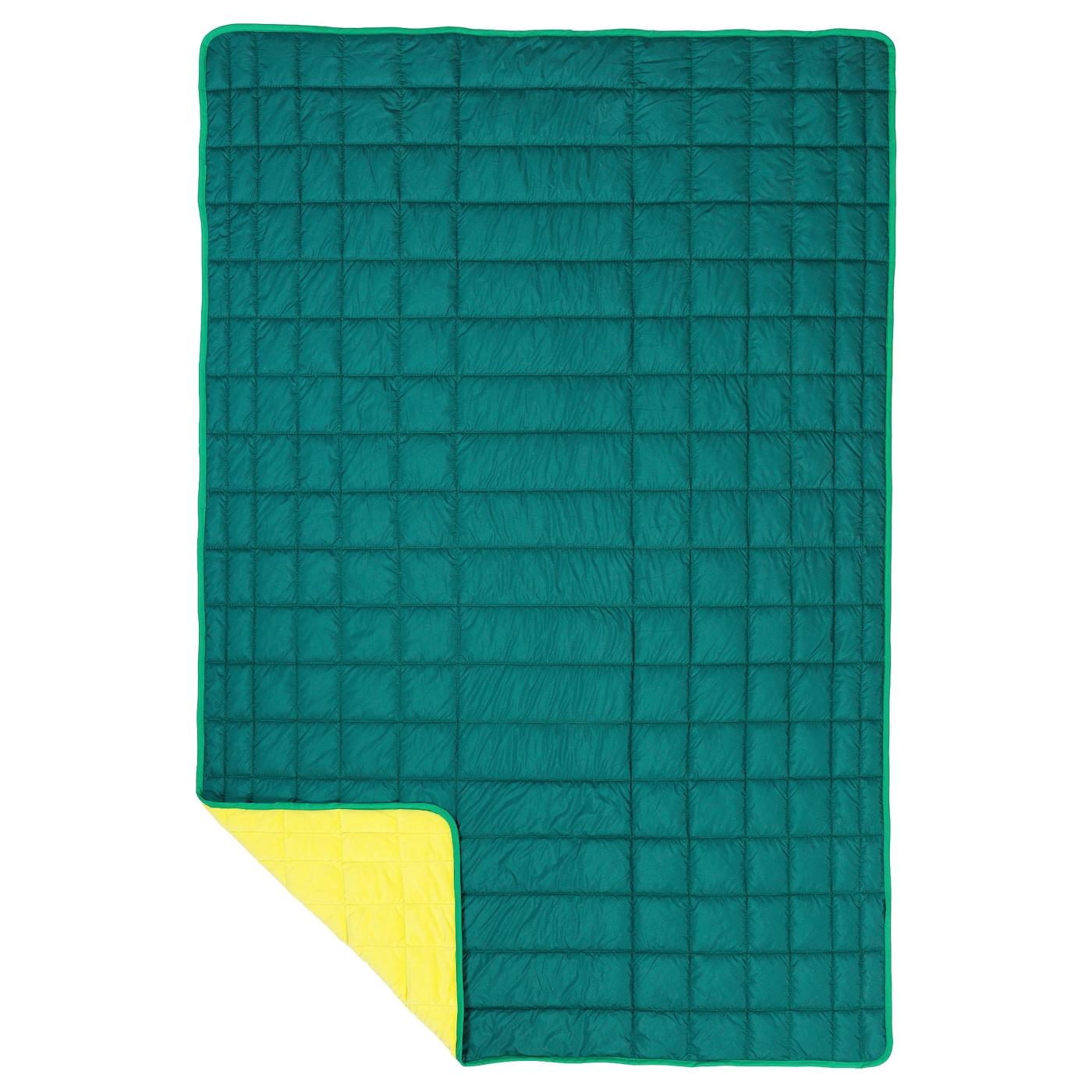ikea ps 2017 throw green yellow 120x180 cm ikea. Black Bedroom Furniture Sets. Home Design Ideas