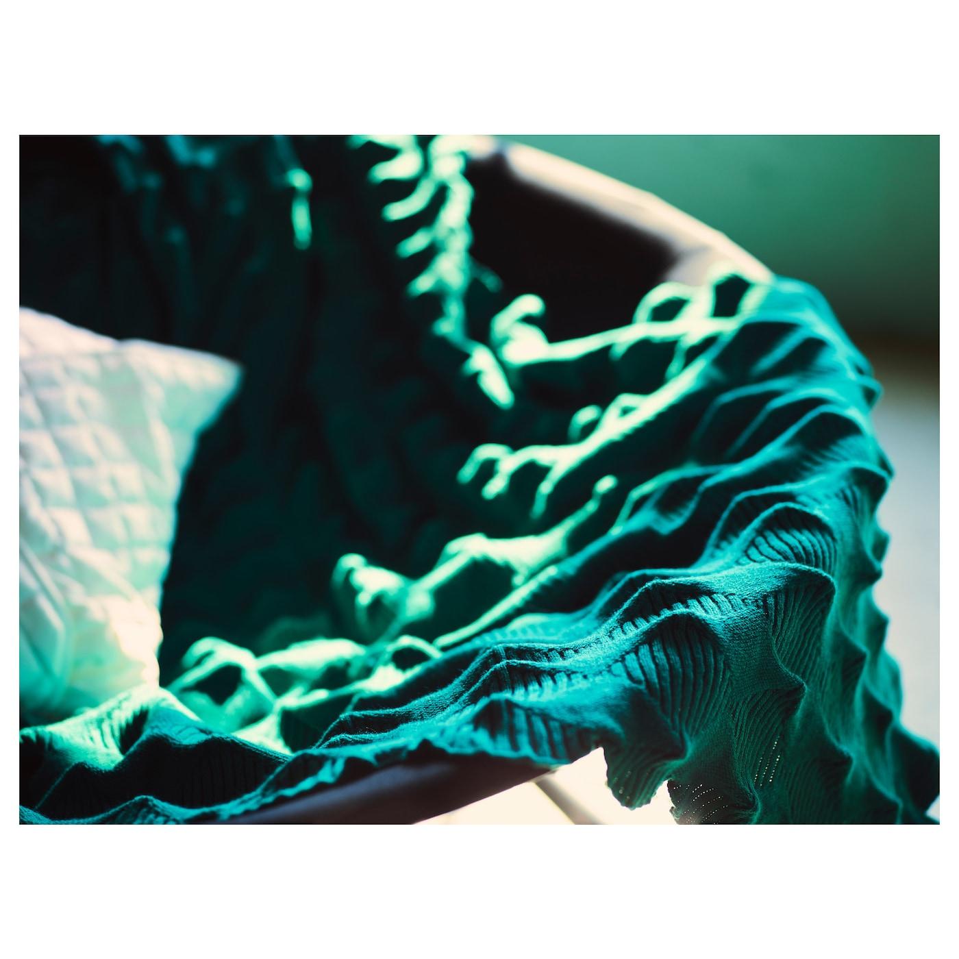 ikea ps 2017 throw green 95x160 cm ikea. Black Bedroom Furniture Sets. Home Design Ideas
