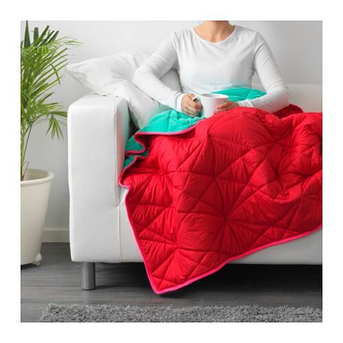 IKEA PS 40 Throw Redturquoise 40 X 40 Cm IKEA Best Ikea Fleece Throw Blanket