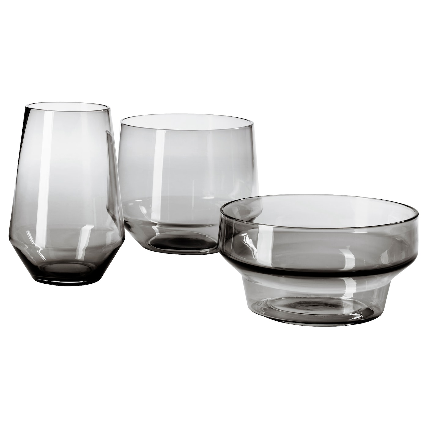 Glass flower vases and bowls ikea ikea ikea ps 2017 vase set of 3 handmade each vase has been shaped reviewsmspy