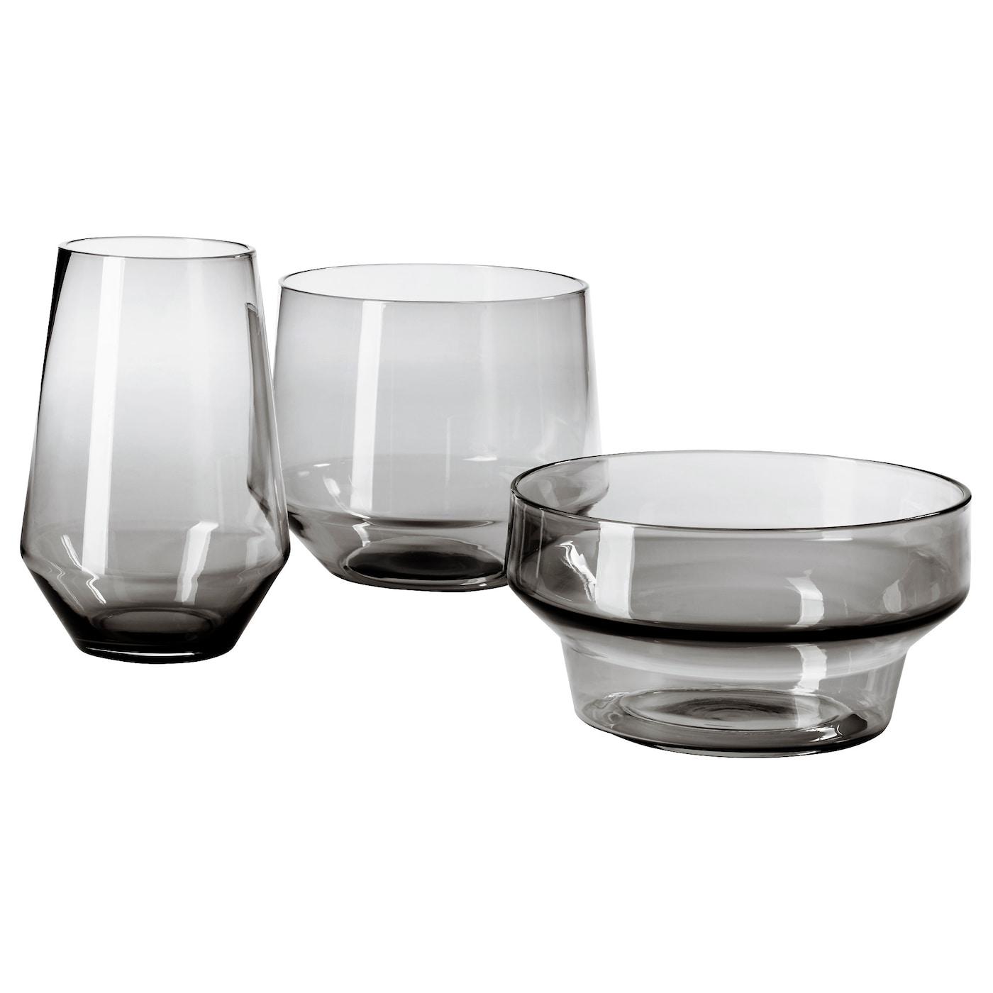 Vases decorative vase sets ikea ikea ikea ps 2017 vase set of 3 handmade each vase has been shaped reviewsmspy