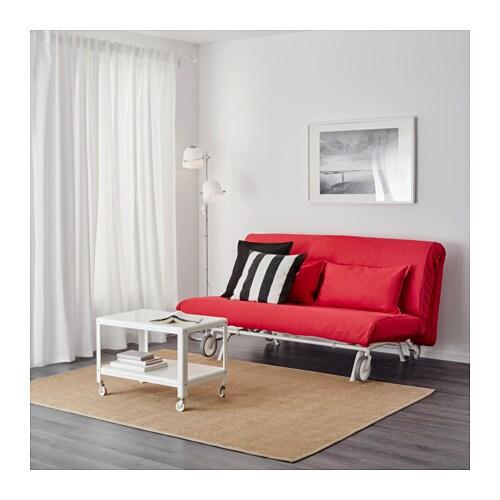 ikea ps h vet two seat sofa bed vansta red ikea. Black Bedroom Furniture Sets. Home Design Ideas