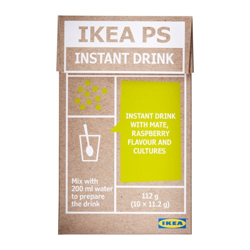 IKEA IKEA PS instant drink The water will release the colours and flavours of maté and raspberry.