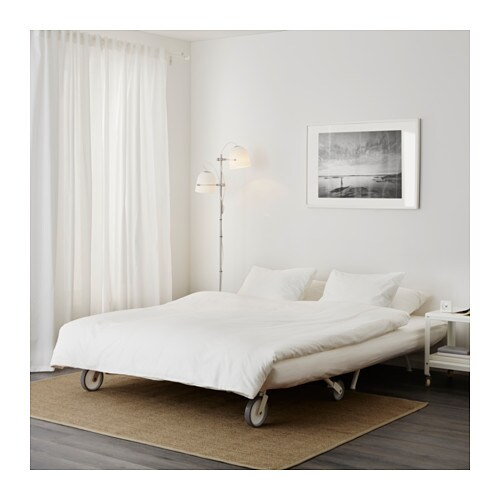 Ikea ps l v s two seat sofa bed gr sbo white ikea for Sofa bed 2 seater ikea