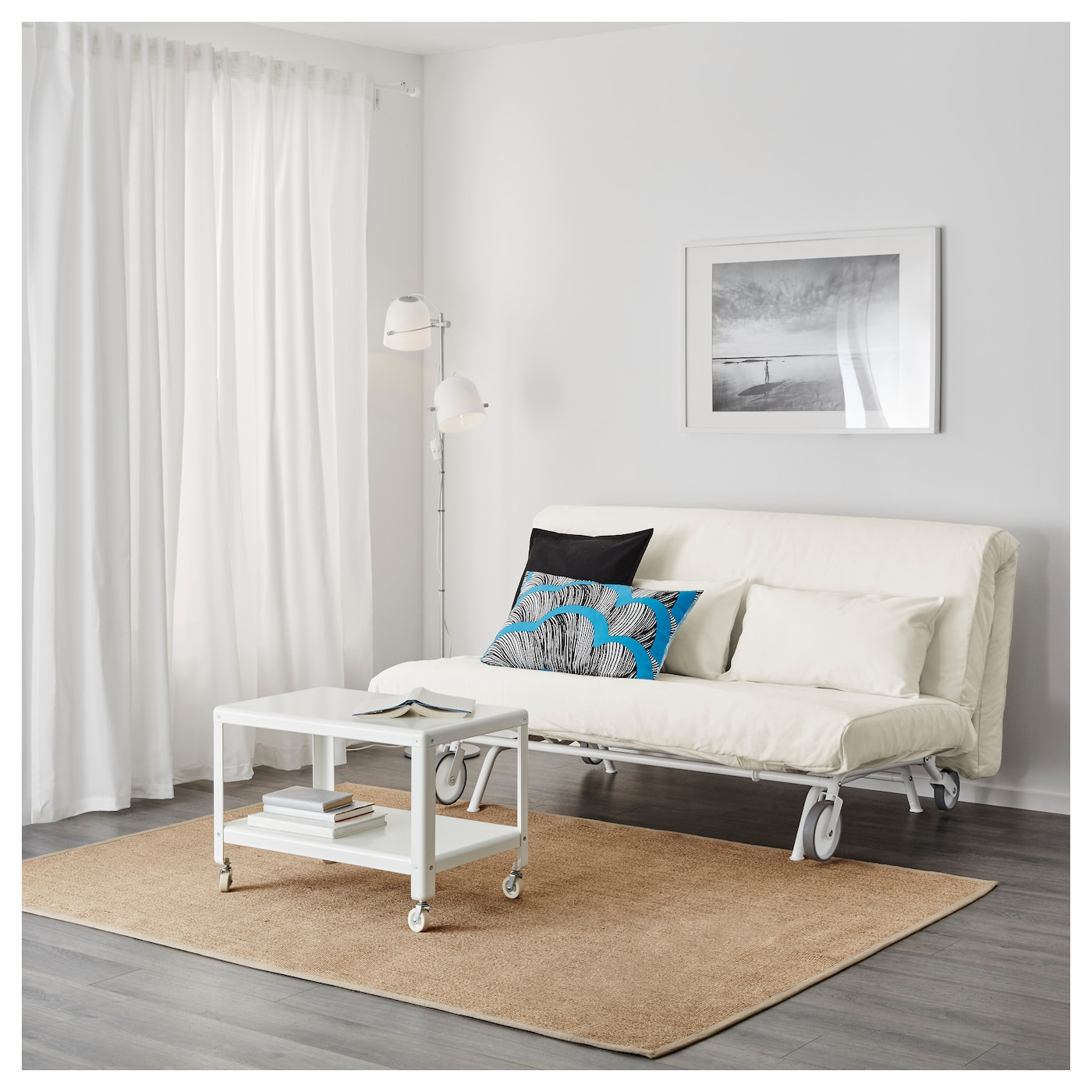 IKEA PS L–V…S Two seat sofa bed Gräsbo white IKEA