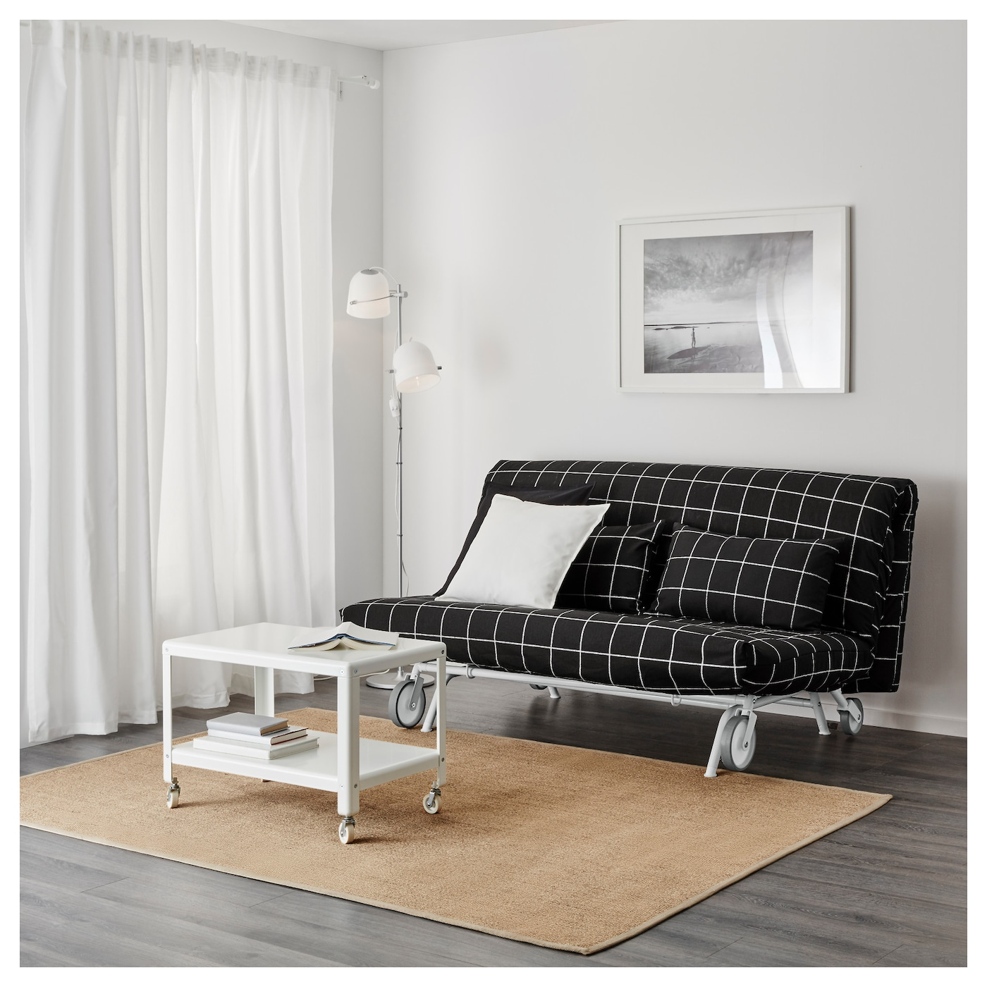 ikea ps l v s two seat sofa bed rute black ikea. Black Bedroom Furniture Sets. Home Design Ideas