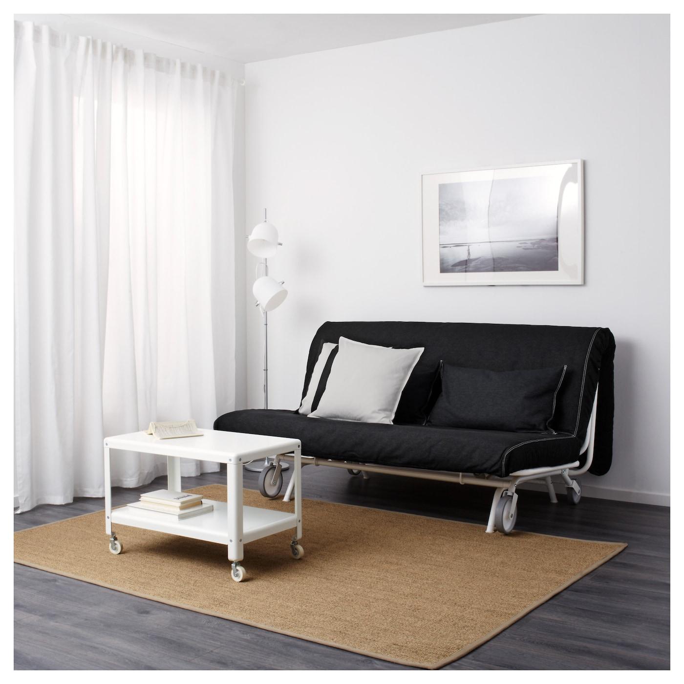 ikea ps l v s two seat sofa bed vansta black ikea. Black Bedroom Furniture Sets. Home Design Ideas