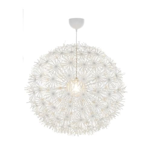Ikea ikea ps maskros pendant lamp gives decorative patterns on the ceiling and on the wall