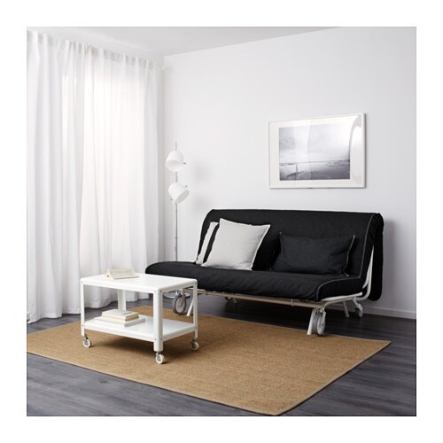 ikea ps murbo two seat sofa bed vansta black ikea. Black Bedroom Furniture Sets. Home Design Ideas