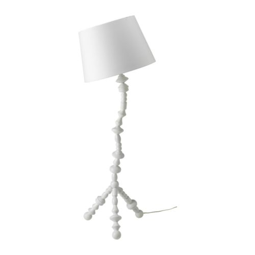 IKEA PS SVARVA Floor lamp , white Height: 140 cm Shade diameter: 48 cm Cord length: 1.4 m