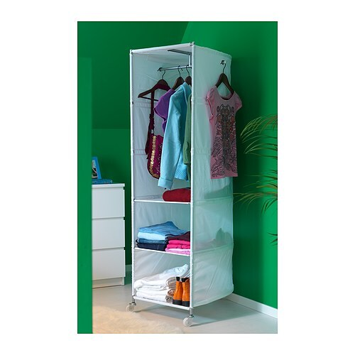 Ikea ps wardrobe tidy white 52x164 cm ikea - Armoire avec penderie ...