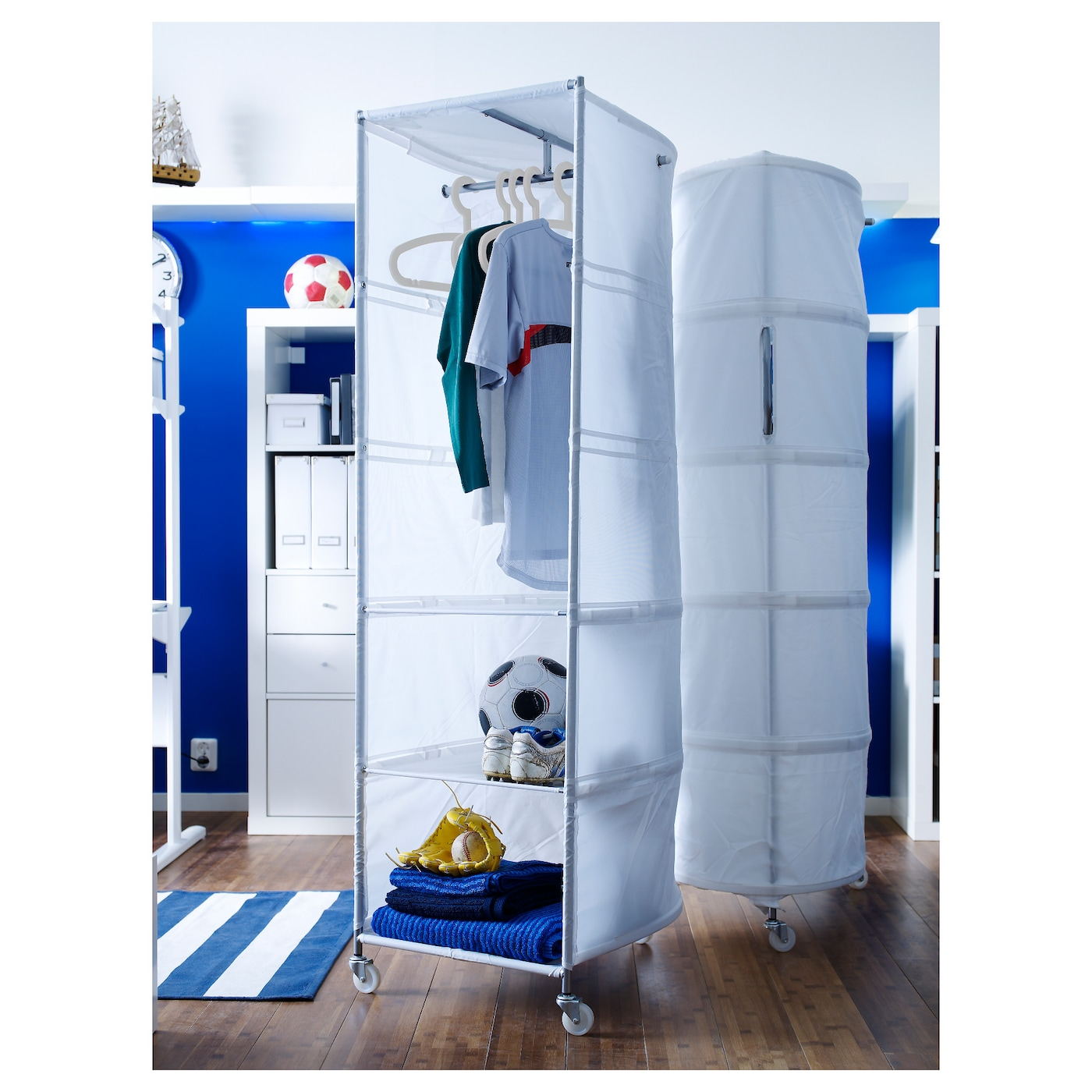 ikea ps wardrobe tidy white 52x164 cm ikea. Black Bedroom Furniture Sets. Home Design Ideas