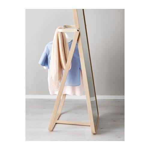 IKORNNES Standing mirror Ash 52×167 cm  IKEA