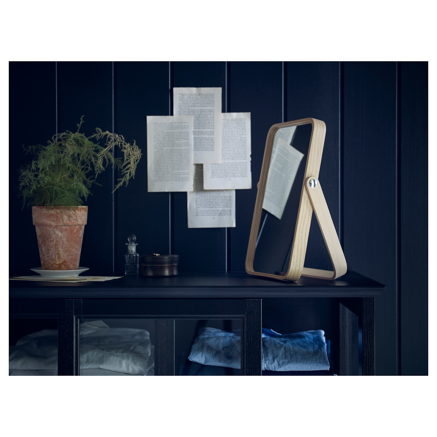Ikea ikornnes table mirror suitable for use in most rooms and tested and approved for