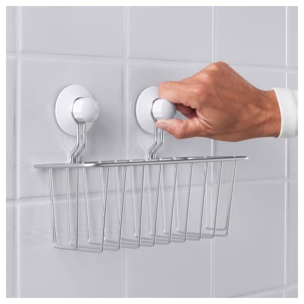 IMMELN shower basket zinc plated 24 cm 12 cm 14 cm 3 kg