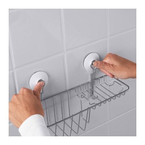IMMELN Shower soap basket with hook Zinc plated 30 x 15 cm - IKEA dbcfb6276d85d