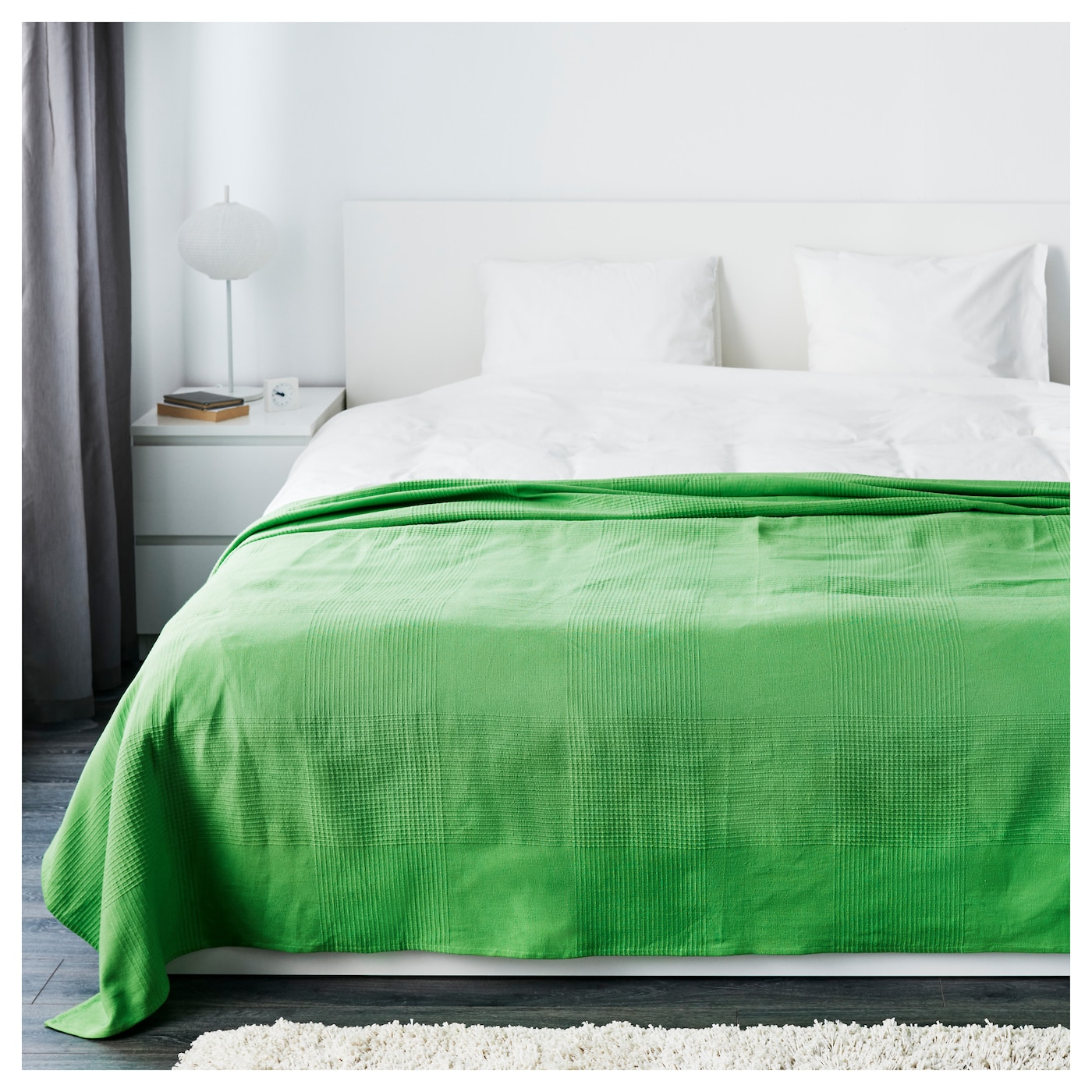 indira bedspread green 250x250 cm ikea. Black Bedroom Furniture Sets. Home Design Ideas