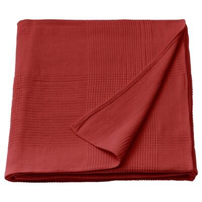 INDIRA Bedspread, red-orange, 150x250 cm