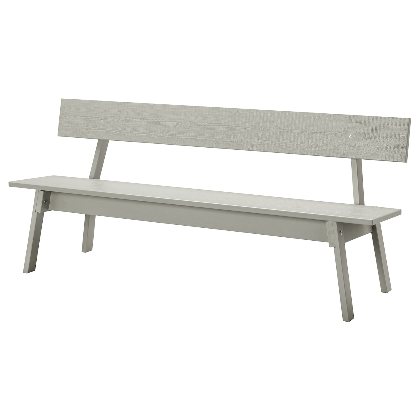 IKEA INDUSTRIELL bench The included plastic feet protect the floor from scratches.