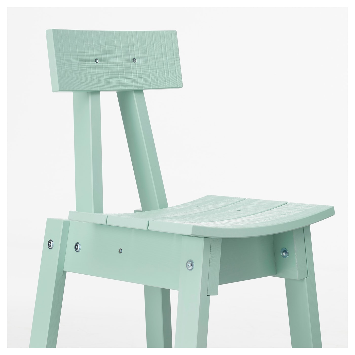 IKEA INDUSTRIELL chair You sit comfortably thanks to the chair's shaped back and seat.