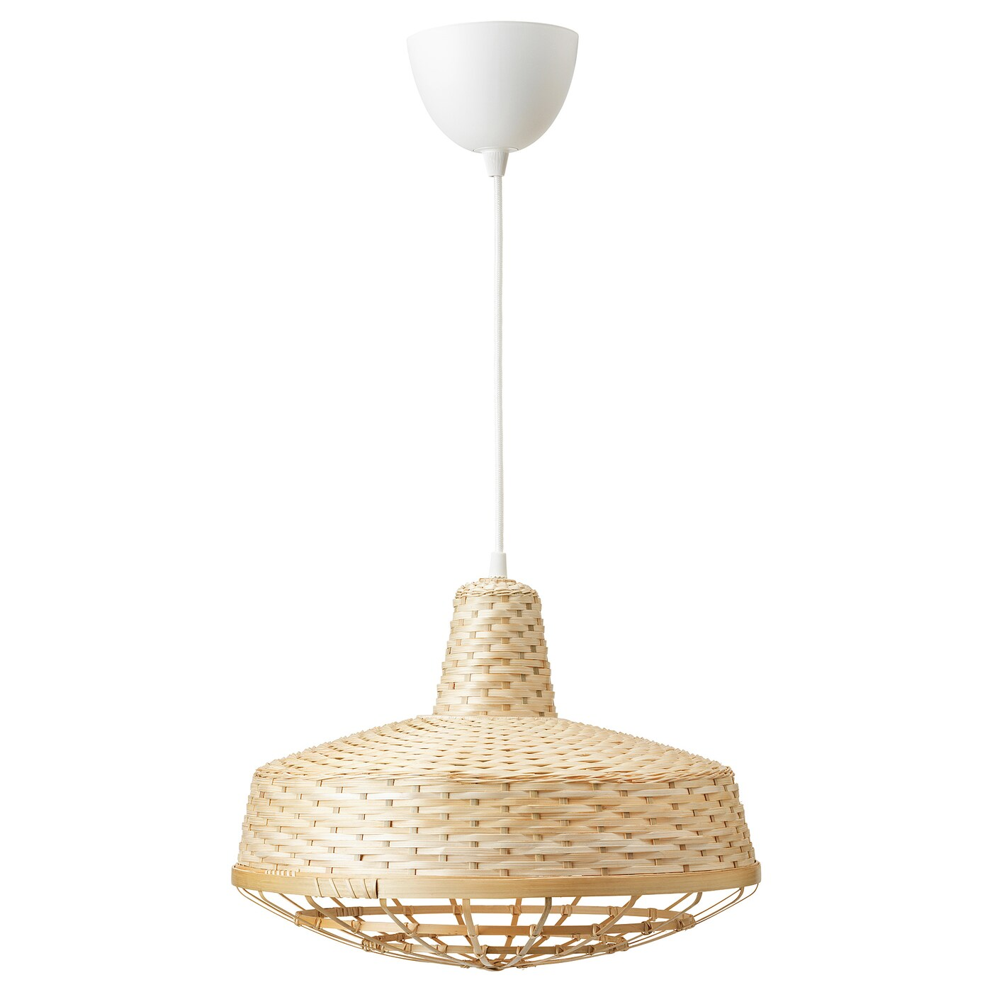 IKEA INDUSTRIELL pendant lamp Each handmade natural fibre shade is unique.