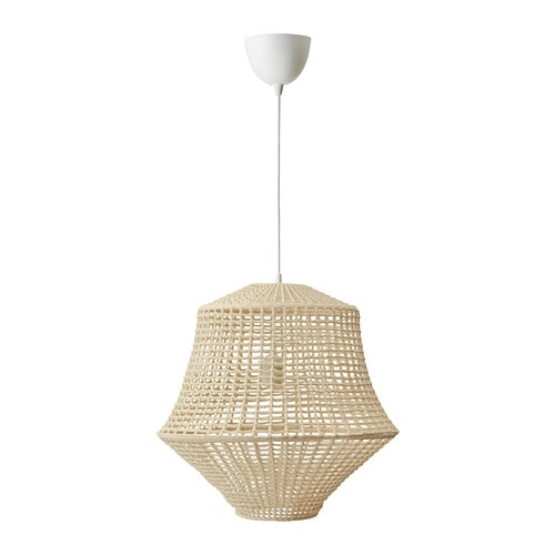 Industriell Pendant Lamp Natural Colour Beige 45 Cm Ikea