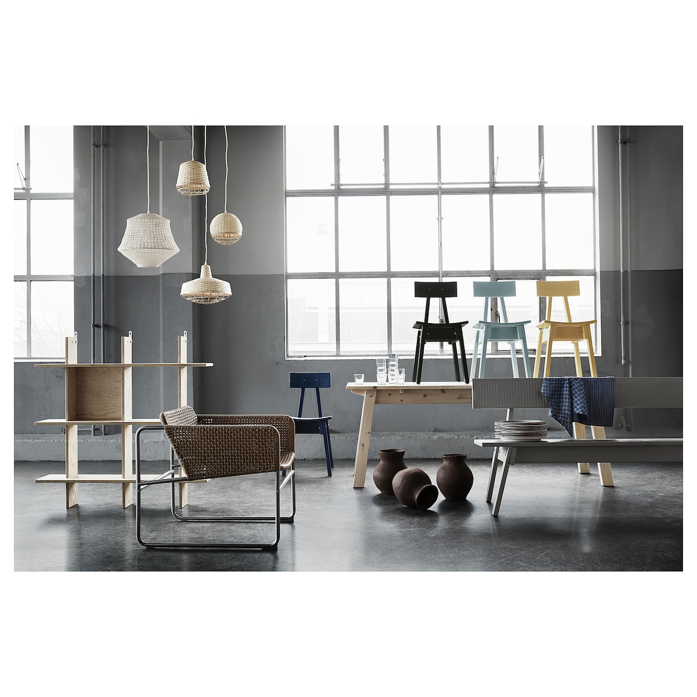 IKEA INDUSTRIELL pendant lamp Easy to take home since the pendant lamp comes in a flat-pack.