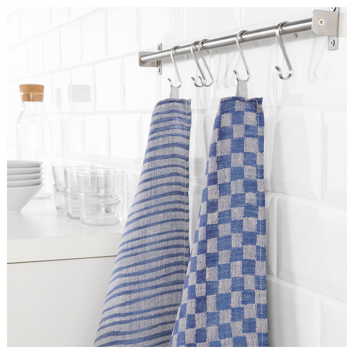 IKEA INDUSTRIELL tea towel With loop for hanging/easy storing when not in use.