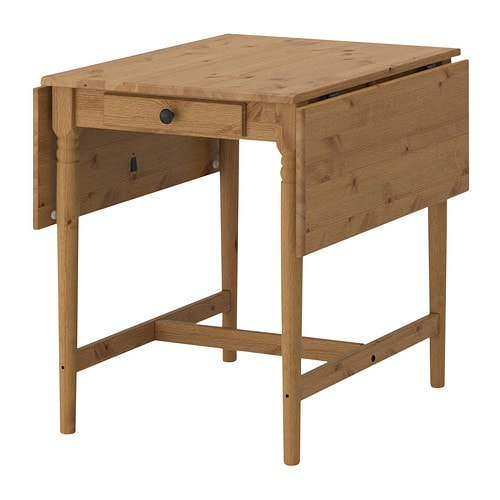 IKEA INGATORP drop-leaf table Solid pine; a natural material that ages beautifully.