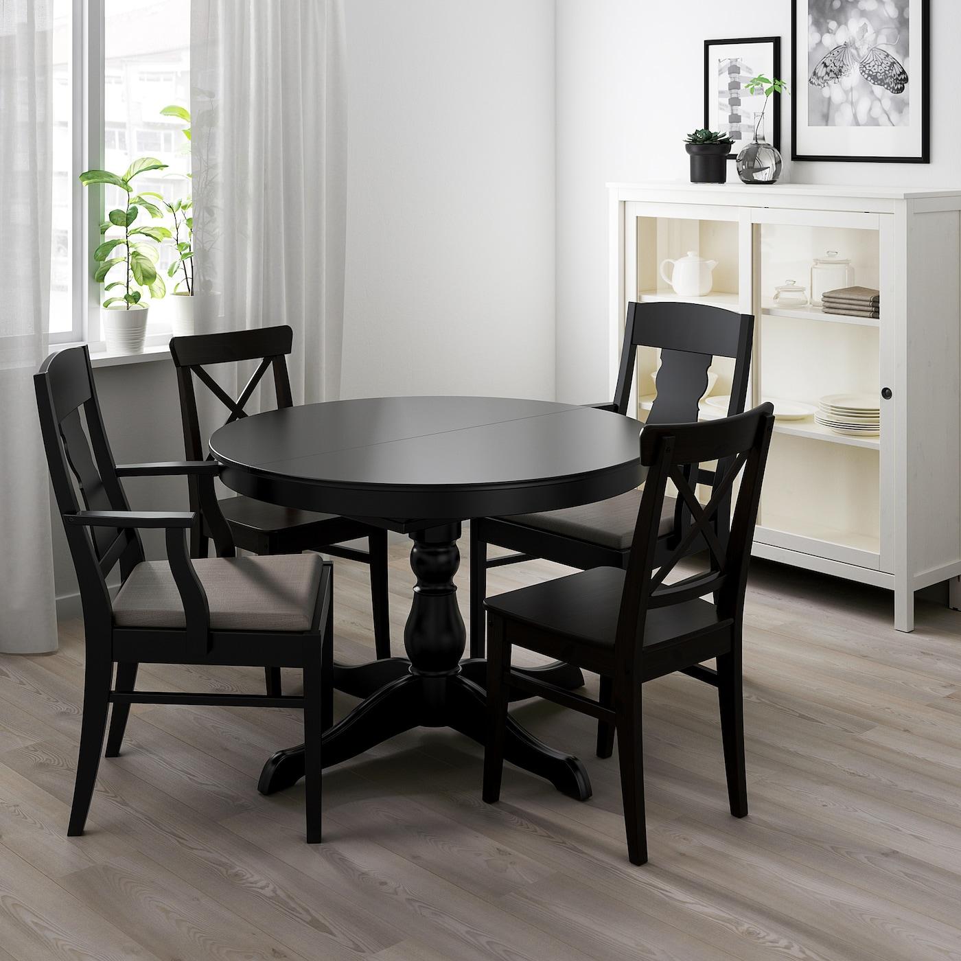 INGATORP black, Extendable table, Max