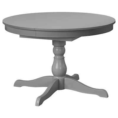 INGATORP Extendable table, grey, 110/155 cm