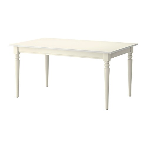 Ingatorp Extendable Table White 155 215 X 87 Cm Ikea