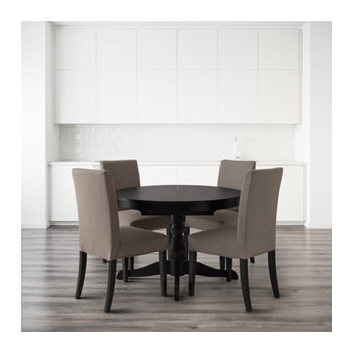 INGATORPHENRIKSDAL Table and 4 chairs Blacknolhaga grey  : ingatorp henriksdal table and 4 chairs black nolhaga grey beige0444575pe595107s4 from www.ikea.com size 500 x 500 jpeg 33kB