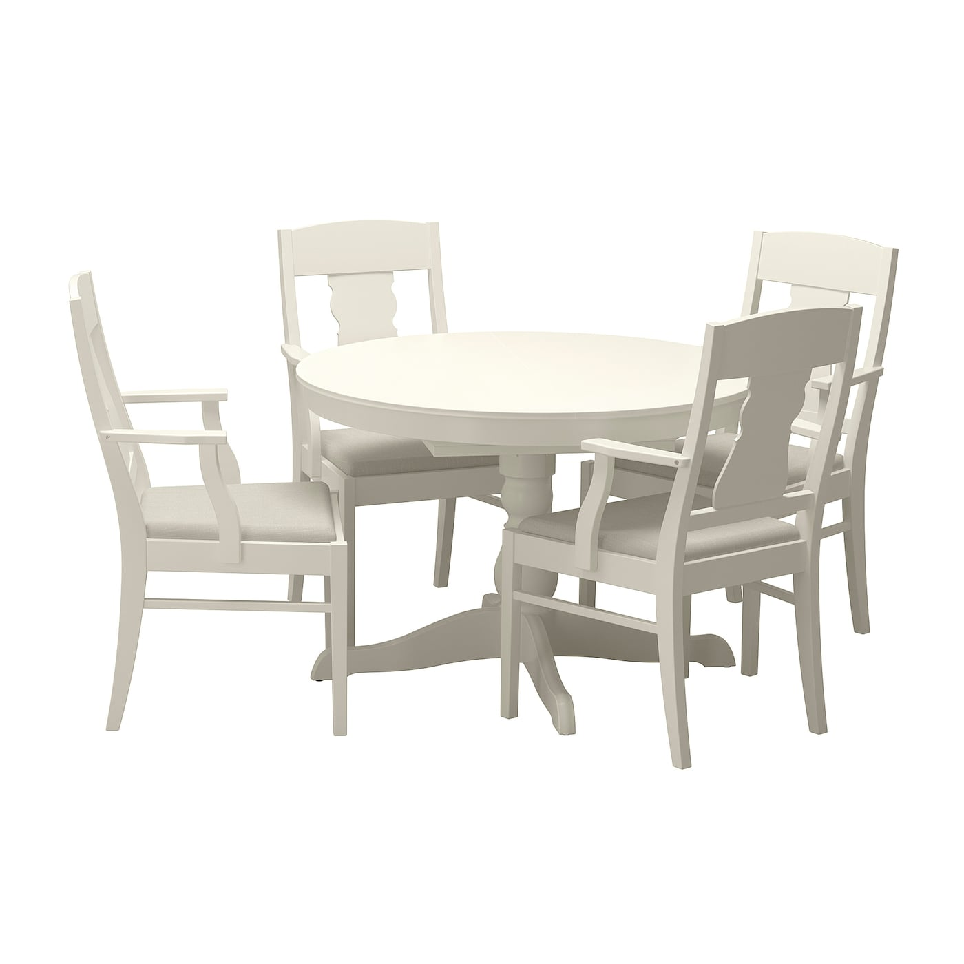 Ingatorp ingatorp table and 4 chairs white 110 155 cm ikea - Ikea dining table with 4 chairs ...