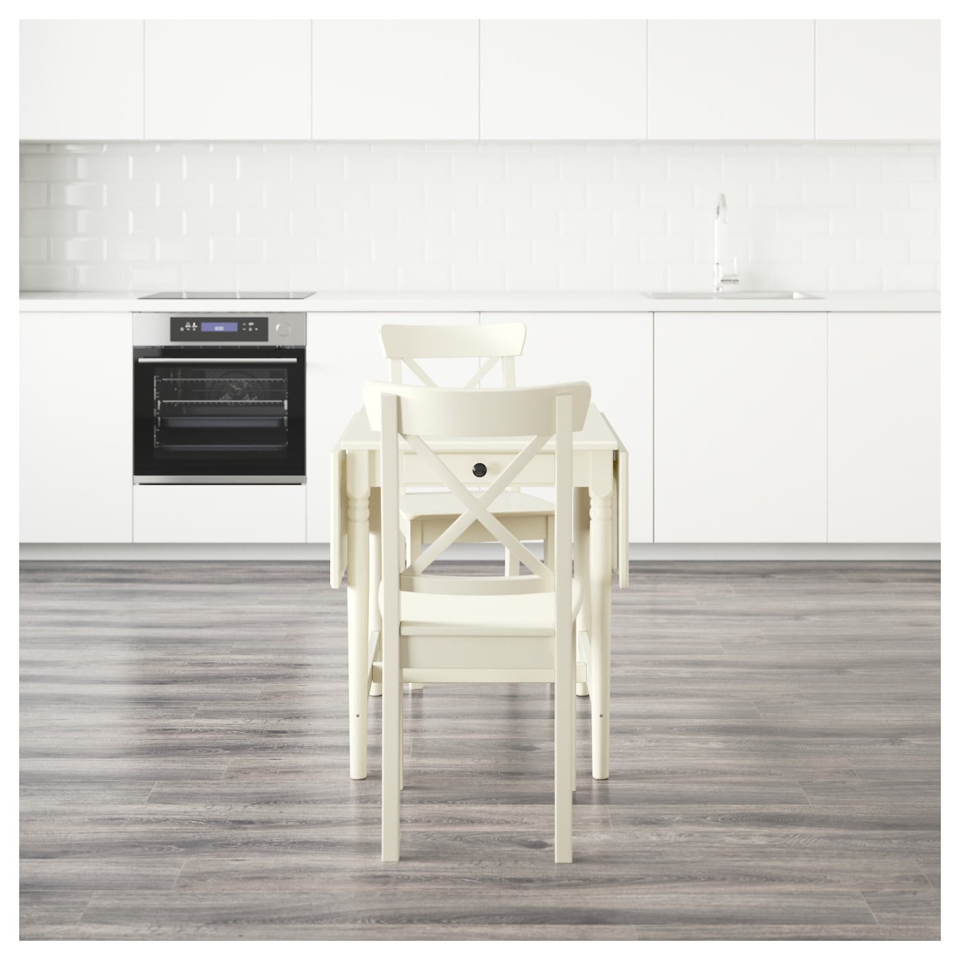 ingatorp ingolf table and 2 chairs white 59 cm ikea. Black Bedroom Furniture Sets. Home Design Ideas
