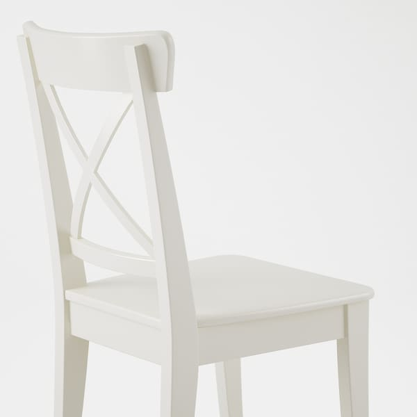 INGATORP / INGOLF Table and 4 chairs, white/Nordvalla beige, 110/155 cm