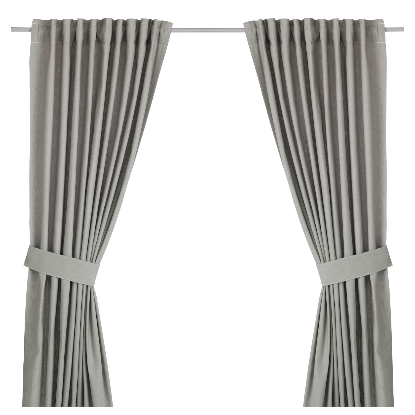 ingert curtains with tie backs 1 pair grey 145x250 cm ikea. Black Bedroom Furniture Sets. Home Design Ideas