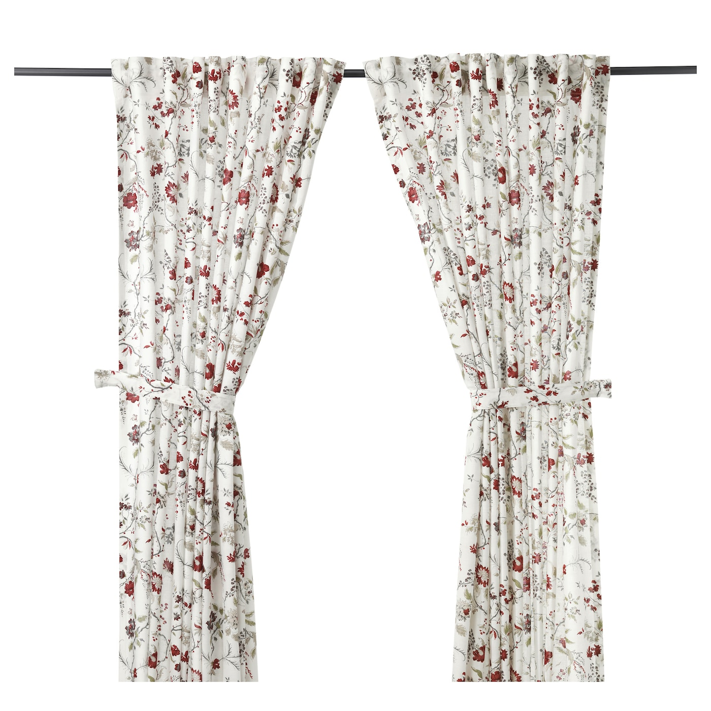 IKEA INGMARIE curtains with tie-backs, 1 pair