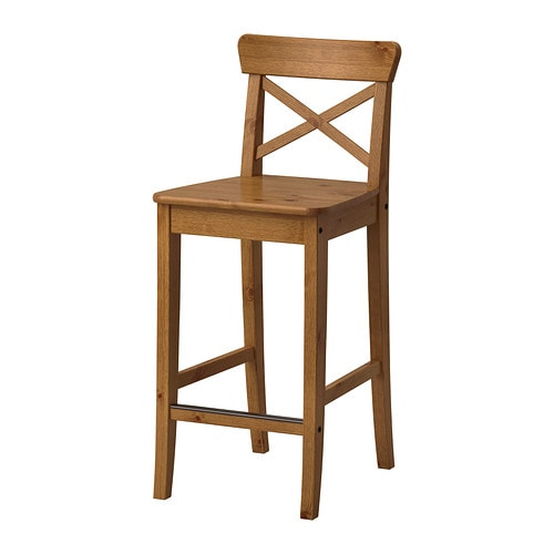 INGOLF Bar stool with backrest Antique stain 63 cm IKEA : ingolf bar stool with backrest antique stain0238341pe377881s4 from www.ikea.com size 500 x 500 jpeg 30kB